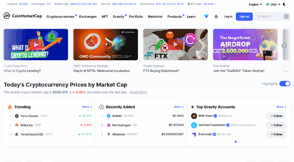 coinmarketcap.com - cryptocurrency prices, charts and market capitalizations  coinmarketcap