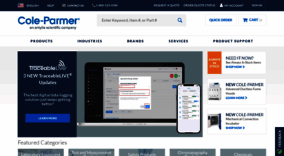 coleparmer.com - cole-parmer - fluid handling and anlysis supplies from cole-parmer germany