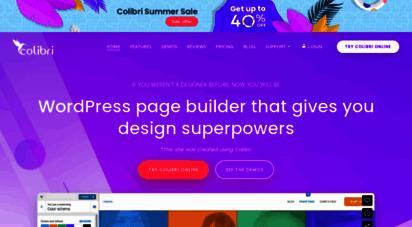 colibriwp.com - colibri - the ultimate wordpress page builder