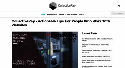 collectiveray.com - collectiveray.com - web design blogs about joomla, wordpress, seo