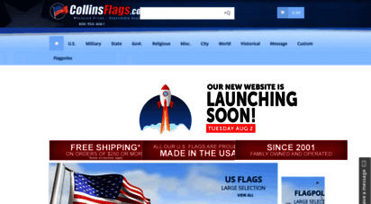 collinsflags.com - flags, flag poles, banners and accessories  collinsflags.com