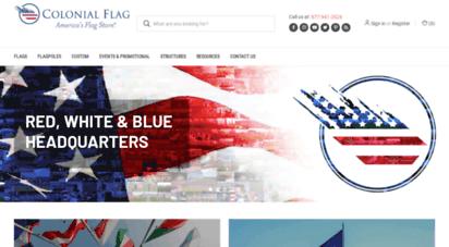 colonialflag.com - flag poles - aluminum flagpoles, flags & flag poles for sale