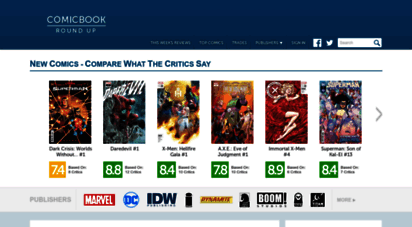 comicbookroundup.com - comic book reviews at comicbookroundup.com