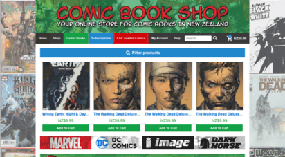 comicbookshop.co.nz - comic book shop - your online store for comic books in new zealand