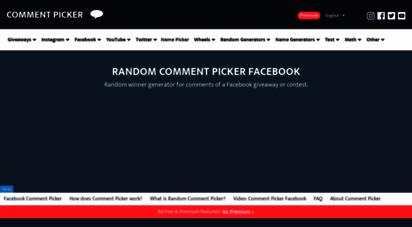 commentpicker.com - random comment picker for facebook - comment picker