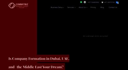 commitbiz.com - business setup in dubai, uae  setting up a business in dubai