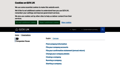 companieshouse.gov.uk - companies house - gov.uk