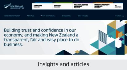 companiesoffice.govt.nz -