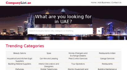 Welcome to Companylist ae - Yellow Pages UAE | Online