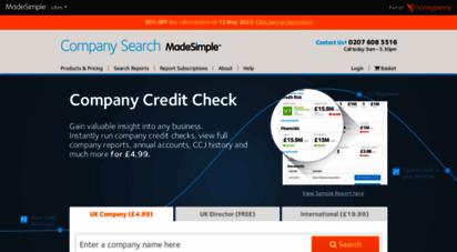 companysearchesmadesimple.com - company search, company credit check, director search