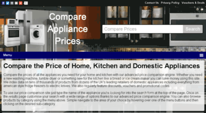 Welcome to Compareapplianceprices.co.uk - Compare the Price ...
