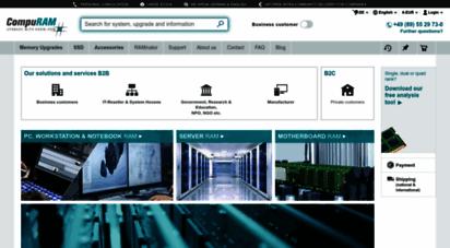 compuram.biz - memory ram & ssd - buy online from the experts