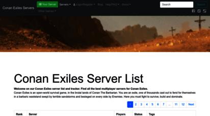conan-exiles.com - conan exiles server list  conan exiles multiplayer servers