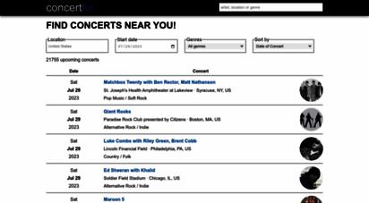 concertful.com - concertful - concerts, tour dates, festivals 2015