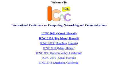 conf-icnc.org - welcome to