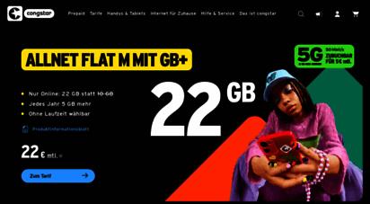 congstar.de - congstar - dein mobilfunkanbieter für günstige handytarife