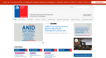 conicyt.cl - conicyt  comisin nacional de investigacin científica y tecnolgica