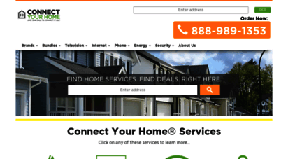 connectyourhome.com - save on internet, phone & cable tv  connect your home