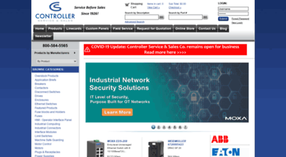 controllerservice.com - motor control power distribution process control distributor