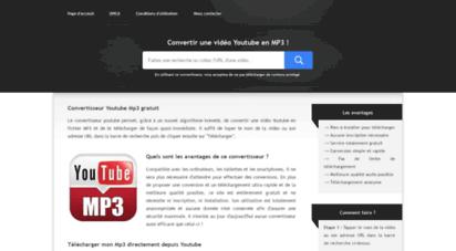 convertir-youtube-mp3.com - ⓵ convertir et télécharger une vidéo youtube au format mp3