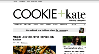 cookieandkate.com - cookie and kate - whole foods and vegetarian recipe blog