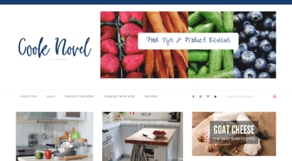 cooknovel.com - cooknovel.com - a food blog with tips and product reviews