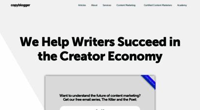 copyblogger.com - copyblogger - content marketing tools and training.