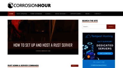 corrosionhour.com - corrosion hour - rust community, game guides & admin resources
