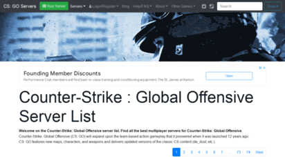 counter-strike-servers.net - counter-strike : global offensive server list  counter-strike : global offensive multiplayer servers