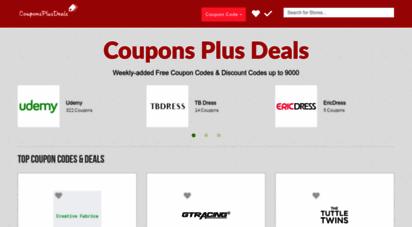 couponsplusdeals.com - coupon codes, discount & promo codes d daily