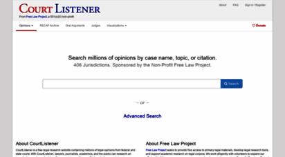 courtlistener.com - non-profit free legal search engine and alert system - courtlistener.com