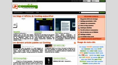 cowblog.fr - blog gratuit - créer un blog perso, blog photo ou blog vidéo