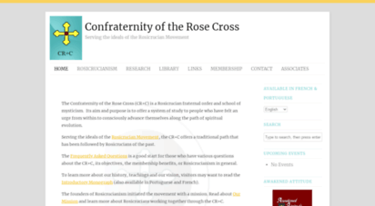 crcsite.org - rosicrucian archive - presenting ideals of rosicrucianism