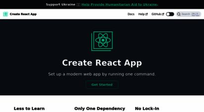 create-react-app.dev -