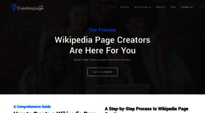 createapage.wiki - create a wikipedia page  how to create a custom wikipedia page