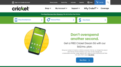 cricketwireless.com - prepaid phones: no contract cell phone plans  cricket wireless