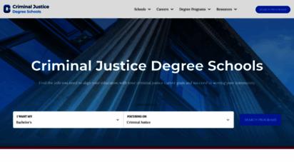 criminaljusticedegreeschools.com - criminal justice schools, colleges and universities  cjds