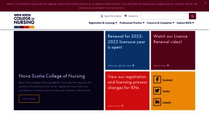 crnns.ca - nova scotia college of nursing  nscn