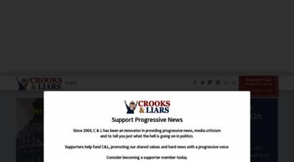 crooksandliars.com - progressive news and media coverage on crooks and liars