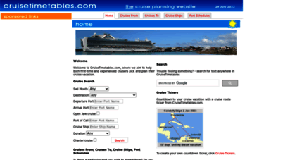 cruisetimetables.com - cruise timetables  cruise schedules  cruise ship schedules