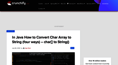 crunchify.com - crunchify • largest free technical and blogging resource site for beginner. we help clients transform their great ideas  reality!