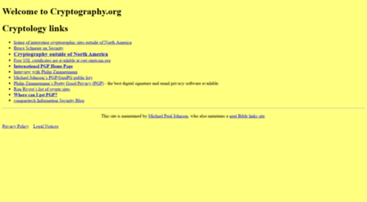 cryptography.org - welcome to cryptography.org