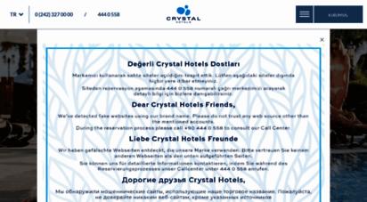 crystalhotels.com.tr - crystal hotels   de luxe, flora beach, tat beach, family, paraiso verde, waterworld, palace, sunrise queen, admiral, green bay, kaymaklý, sunset, aura beach