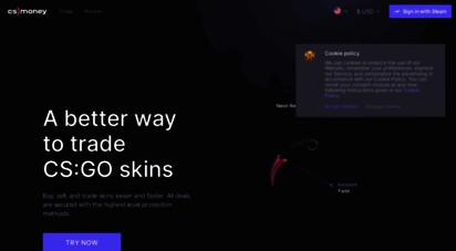 cs.money - cs.money cs:go trading bot — site for fast trade, buy and sell skins cs:go