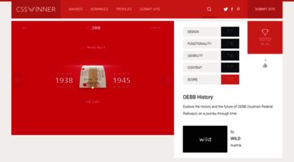 csswinner.com - css winner - web design awards - css award gallery for website design inspiration - website awards