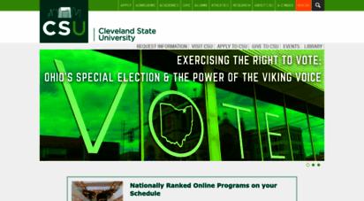 csuohio.edu - cleveland state university  engaged learning