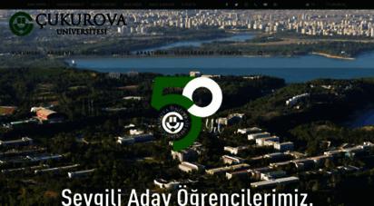 cu.edu.tr - çukurova üniversitesi