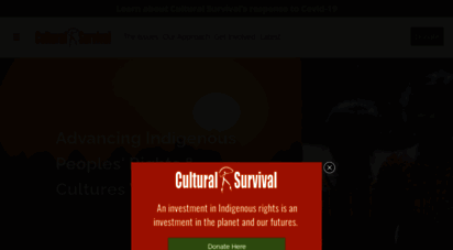 culturalsurvival.org - cultural survival  advancing indigenous peoples rights & cultures worldwide since 1972
