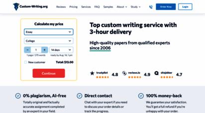 custom-writing.org - ✍️ custom writing service  sale now on: -15 off  free quality check!