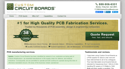 customcircuitboards.com - pcb manufacturer - printed circuit board manufacturing & fabrication company - pcb supplier  custom circuit boards